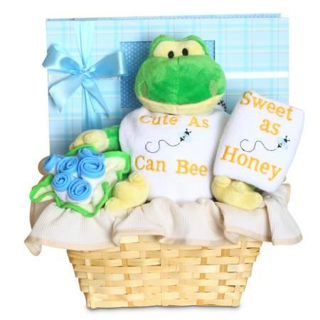 "Forever Baby Book ""Cute as can Bee"" Baby Gift Basket (Boy or Girl)"