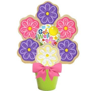 Get Well Blooms Cookie Bouquet