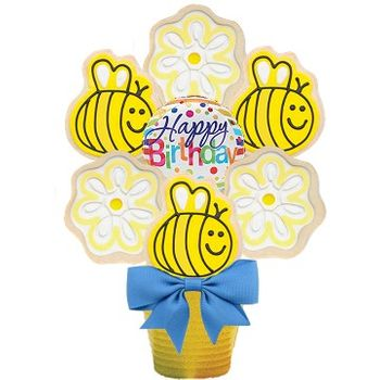 Happy Bee-Day Cookie Bouquet