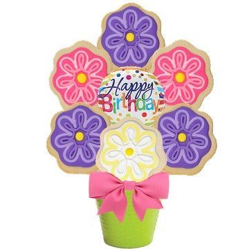 Happy Birthday Bloom Cookie Bouquet - SOLD OUT