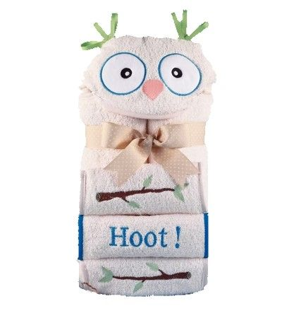 It's a Hoot!  Hooded Towel for Kids