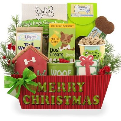 Merry Christmas Dog Gift Basket