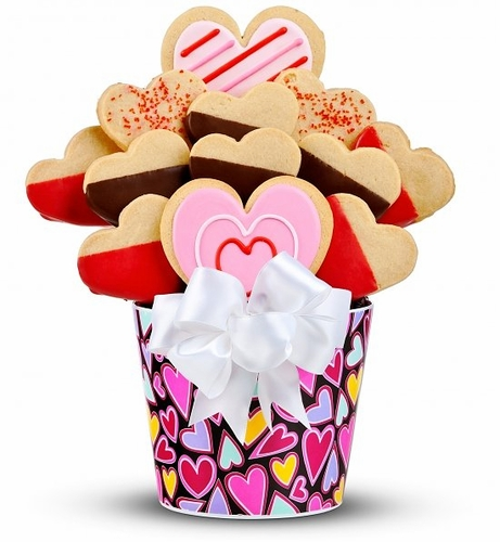 My Sweet Valentine Cookie Bouquet