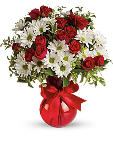 Red White and You Floral Bouquet
