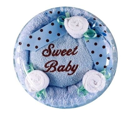 Sweet Baby Boy Hooded Towel