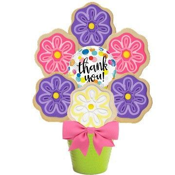 Thank You Blooms Cookie Bouquet