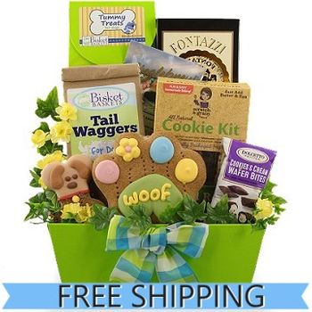 Treats for Two Dog and Owner Gift Basket - Free Shipping