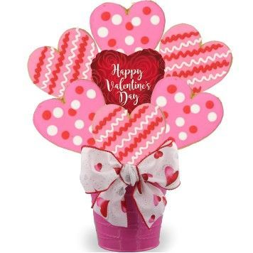 Valentine Hearts Cookie Bouquet-SOLD OUT