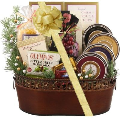 Wine and Cheese Holiday Gift Basket