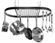 Kinetic Classicor Hanging Oval Pot Rack - Black Wrought Iron