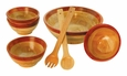 Cherry Rim Bowls - 7 Piece Set by Mountain Woods