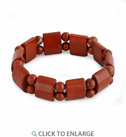 Red Brick Jasper Gem Stone Bracelet