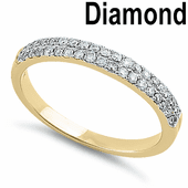 Solid 14K Yellow Gold Two Tone 0.30 ct. Diamond Band