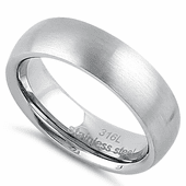 Stainless Steel 6mm Satin Finish Band Ring