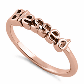 "Sterling Silver Rose Gold Plated ""Blessed"" Ring"