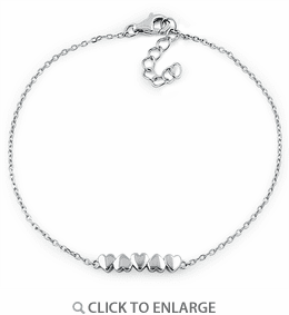 Sterling Silver Small Hearts Bracelet