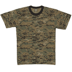 Camouflage and Solid Color T-shirts