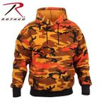 Savage Orange Camo Pullover Hooded Sweatshirt