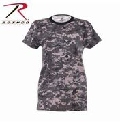 Women's Long Length Camo T-Shirt  - Subdued Urban Digital Camo(SPECIAL)
