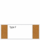 Combination Porcelain Steel Marker and Bulletin Boards - Type F (Tack-Left Marker-Center Tack-Right)
