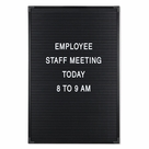 Essentials Black & White Changeable Letter Board