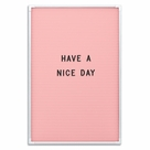 "Essentials Changeable Letter Board (Pink / White Frame) 18""H X 12""W"