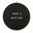 Essentials Round Changeable Letter Board (Bamboo Frame / Black Back)