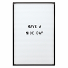 "Essentials White & Black Changeable Letter Board 18""H X 12""W"