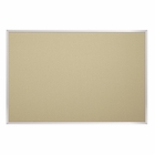 Fabric Covered Cork Plate Tackboards-Aluminum 3'H x 5'W