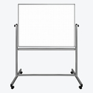 "Luxor 48"" x 36"" Mobile Magnetic Double-Sided Ghost Grid Whiteboard"