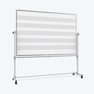 "Luxor 72""W x 48""H Mobile Music Whiteboard / Whiteboard"