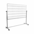 Luxor 72X48 Mobile Double Sided Music Board