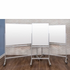 Luxor Double-Sided Mobile Magnetic Glass Marker Boards