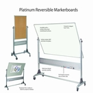 Platinum Reversible White Dry Erase Marker Boards