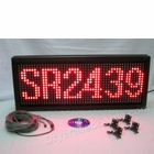 """Single Color Red LED Indoor/Outdoor Programmable Scrolling Sign - 32""""H x 89""""L x 3""""D"""