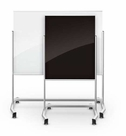 Visionary Move Mobile Magnetic Glass Markerboard