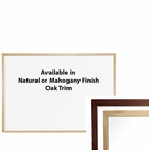 Wood Trim Porcelain Steel Markerboards - Natural Oak