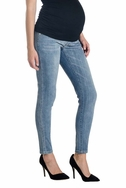 SOLD OUT Lilac Skinny 5 Pocket Maternity Jeans - Light Wash