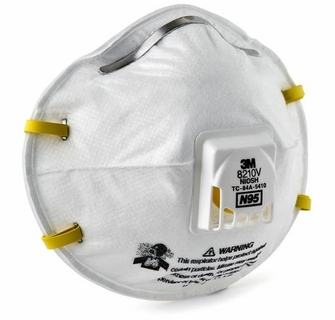 case 3m 80 Respiratory Of - Respirator Disposable 8210v N95