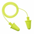 3M E-A-R Military Skull Screws No-Roll Foam Ear Plugs Corded, Bright Yellow - 370-1017 (NRR 30)