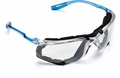 3M Virtua CCS Protective Eyewear 11872-00000-20 with Foam Gasket, Clear Anti-Fog Lens (Glasses + One Pair UltraFit Corded Ear Plugs)