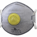 DeltaPlus M1200VW N95+OV/FFP2 Disposable Respirator Dust Mask with Exhalation Valve, Dual Self-Adjusting Straps, Metal Nose Clip, and Nose Pad (N95+OV, FFP2) (Case of 100 Masks)
