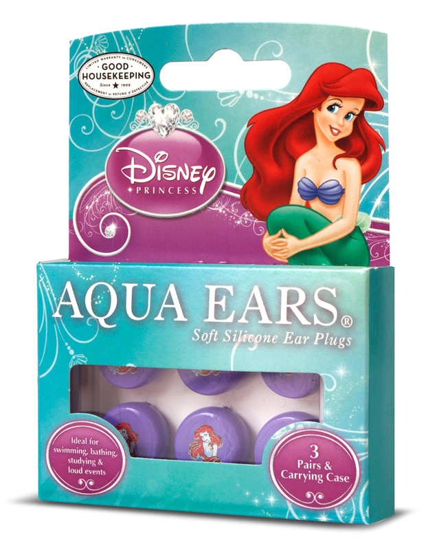 Disney princess little mermaid aqua ears moldable silicone ear plugs disney princess little mermaid aqua ears moldable silicone ear plugs nrr 22 pack of 3 pairs with case altavistaventures Image collections
