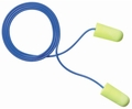 E-A-R EarSoft Yellow Neons UF Foam Ear Plugs Corded - LARGE (NRR 33) (Case of 2000 Pairs)