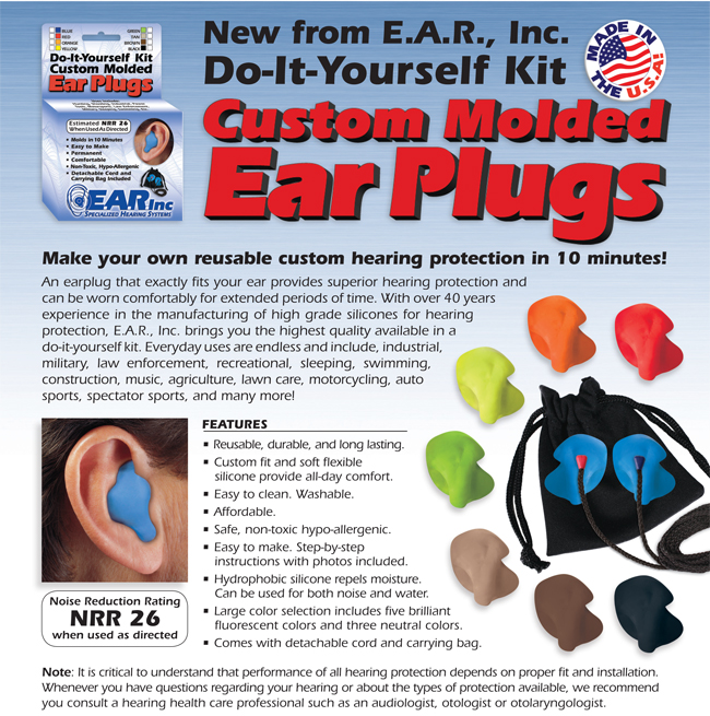 E A R Inc Do It Yourself Custom Ear Plug Kit Makes Two