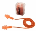 Elvex EP312OR TriSonic Reusable Ear Plugs Corded w/ Plastic Clip Case (NRR 25) (Box of 50 Pairs)