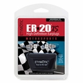 Etymotic ER-20XS-MS-C Compact Motorsports High-Definition Earplugs (NRR 13) (One Pair + 3 Sets Assorted Tips, Neck Cord, and Case)