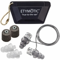 Etymotic ER20XS-UF-P Universal Fit High Fidelity Musicians Ear Plugs (NRR 13) (One Pair + 3 Sets Assorted Tips, Cord, and Case)
