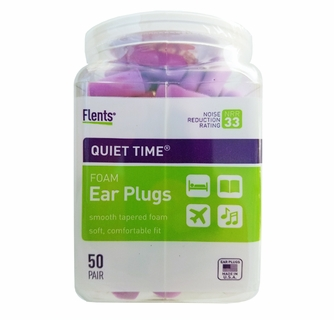 Flents Quiet Time Ear Plugs//Earplugs50 PairNRR 33Made in The USA