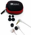 Got Ears? Snappy In-Ear Isolation Earphones for use with Custom Musician Earplugs or Fat Tips